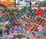 优质低价全涤多颜色75*200D染色桃皮绒素色床单面料