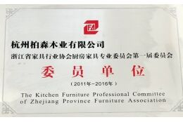 Zhejiang Furniture Industry Association, kitchen furniture Specialized Committee first committee mem