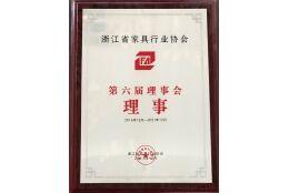 浙江省家具行业协会第六届理事会理事